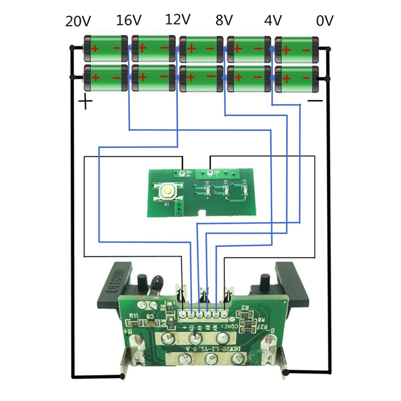ABKT-For Dewalt 18V 20V Battery Replacement Plastic Case 3.0Ah 4.0Ah DCB201DCB203DCB204DCB200 Li-Ion Battery Cover Parts