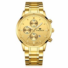 Wristwatch Mens Womens Steel Bracelet Analog Quartz Watch Date Calendar Waterpro