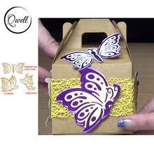 Qwell бабочка металлическая Горячая фольга пластина для скрапбукинга