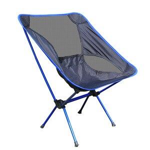 Image 4 - 휴대용 가벼운 무게 접는 캠핑 의자 의자 좌석 낚시 축제 피크닉 바베큐 비치 가방 오렌지 블루 레드 스카이 블루
