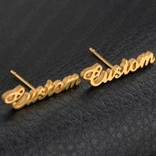 Stainless Steel Gold Custom Piercing DIY Handmade Stud Earri