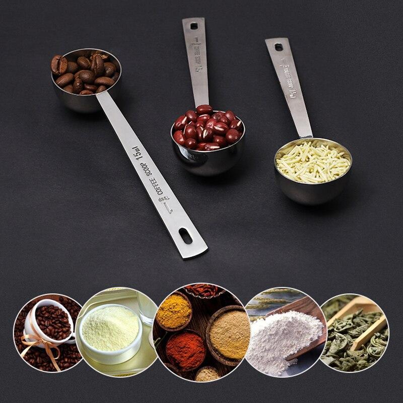 Rose 30ml Yaoyodd19 Long Handle Milk Coffee Powder Scoop Measuring Spoon