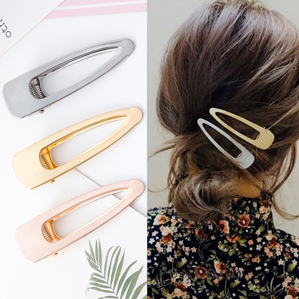 Fashion Vintage Hollow Metal Hair Clips For Women Girls Matte Hollow Metal Geometric Hairpins Hairgrip Barrette Hair Accessories