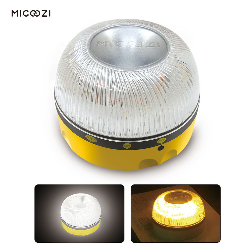 LED Road Emergency Flares Light Roadside Safety Warning Flashing Signal Lights Help Flash Roadside for Vehicles Car Boat MIGOOZI in Traffic Light from Security Protection