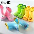 Детские непромокаемые сапоги с широким носком  детские непромокаемые сапоги для мальчиков и девочек  нескользящая резиновая обувь для дете...