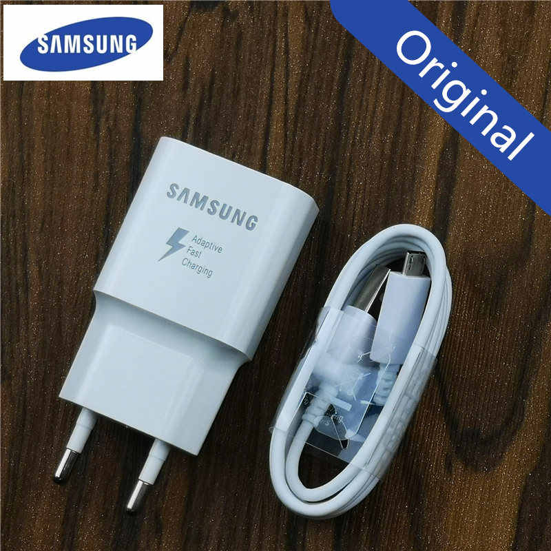 Samsung Charger Adaptive Fast Charge adapter สำหรับ Galaxy a6 a5 หมายเหตุ 4 5 J3 J5 2017 J7 S6 S7 edge QC 3.0 EU Adapter