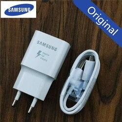 Samsung carregador adaptador de carga rápida adaptável para galaxy a6 a5 nota 4 5 j3 j5 2017 j7 s6 s7 borda original qc 3.0 adaptador da ue