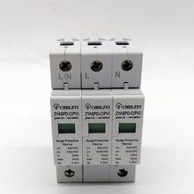 PV 1000V 800V 500V 20KA~40KA 3P SPD House Surge Protector Protective Low-voltage Arrester Device 35mm din rail