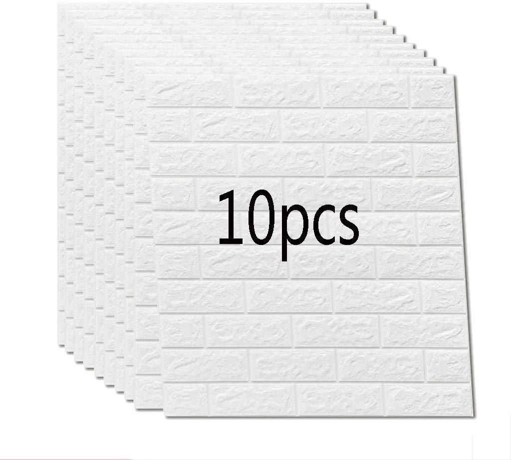 10Pcs 70*77cm DIY Self Adhesive 3D Wall Stickers Bedroom Decor Foam Brick Room Wall Decor Wallpaper Living Wall Sticker For Kids