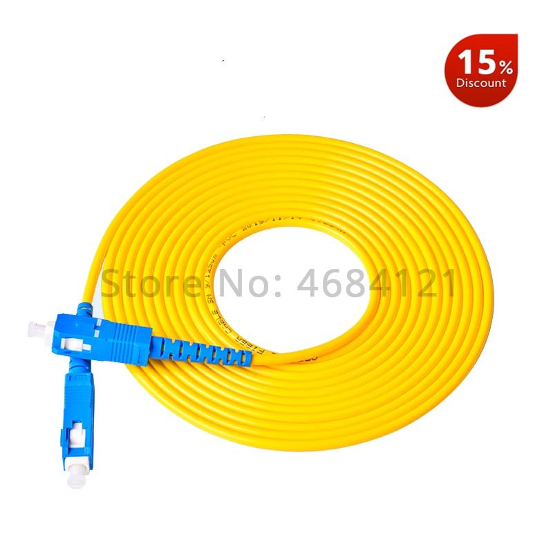 10PCS/bag SC UPC 3M Simplex mode fiber optic patch cord SC UPC 3.0mm fiber optic jumper-in Fiber Optic Equipments from Cellphones & Telecommunications
