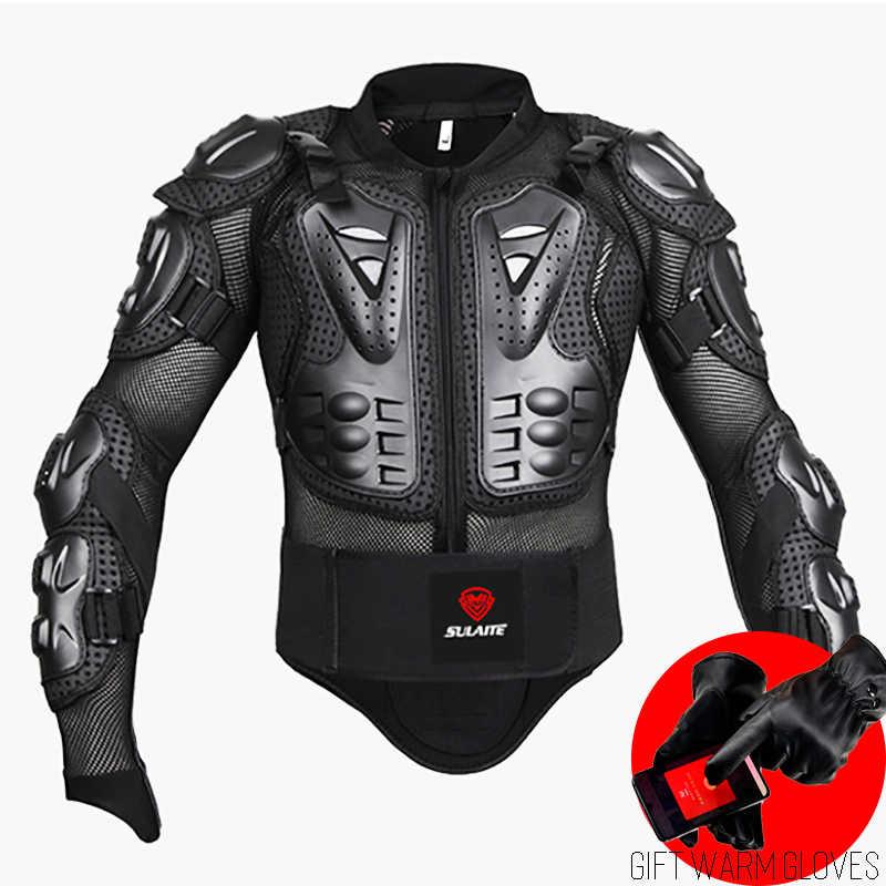 Siyah/kırmızı motosikletler zırh koruma motokros giyim ceket koruyucu Moto çapraz geri zırh koruyucu motosiklet ceketler