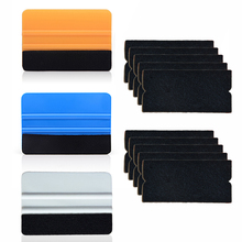 EHDIS Vinyl Carbon Film Car Wrap Squeegee Scraper With 10pcs Fabric Felt Glass Styling Sticker Cleaning Wiper Window Tint Tools