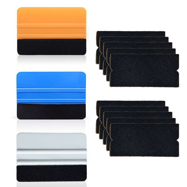 Ehdis Vinyl Carbon Film Auto Wrap Zuigmond Schraper Met 10Pcs Stof Voelde Glas Styling Sticker Wisser Window Tint gereedschap
