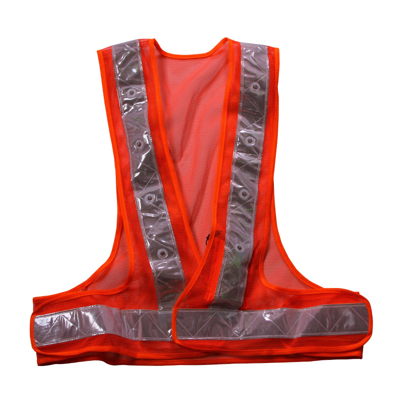 Manufacturers Direct Selling V Shaped Reflective Waistcoat Night Road Construction Safety Clothing Outdoor Construction Warning