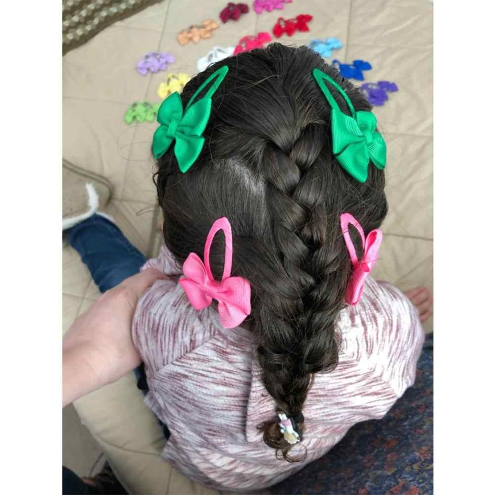 2 шт. заколки для Волос Бант бабочка зажим дети девочки милые заколки для волос аксессуары для волос