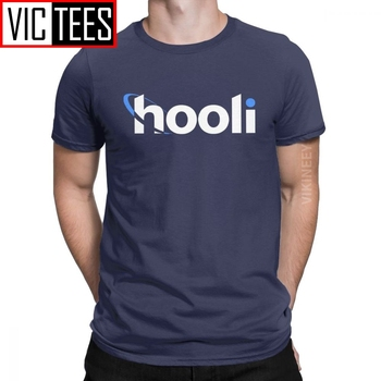 Men T-Shirt Hooli Logo Silicon Valley Cotton Aviato Geek Tv Nerd Richard Tshirt O Neck Camisas Hombre