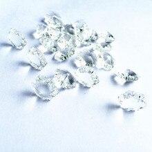 Высокое качество 50 шт. прозрачные 14 мм хрустальные снежные блестящие бусины в одном отверстии для хрустальной люстры Аксессуары для лампы Diy Ювелирные изделия бусины
