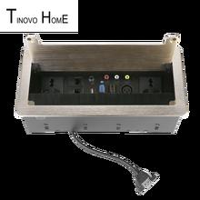 цена на Brush  Desktop socket / aluminum alloy socket / 2-bit universal power  TEL network video audio USB HDMI VGA XLR interface gold