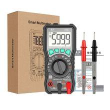 FY76 Multi-function Digital Multimeter True-RMS NCV Multi Meter Backlight Auto Ranging AC/DC Voltage Meter Ohm Transistor Tester