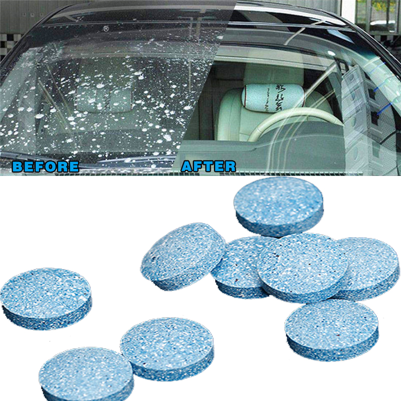 10Pcs Car Solid Wiper Fine Seminoma Wiper Auto Window Cleaning Effervescent Tablet Windshield Glass Cleaner Household Cleaning