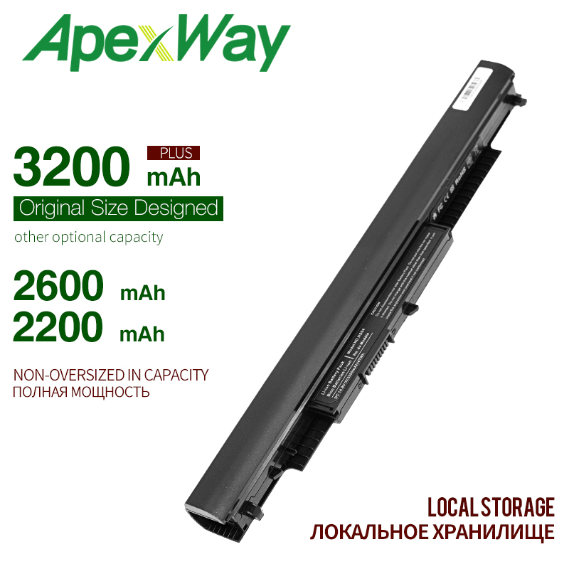 ApexWay 4Cell Laptop Battery for HP Pavilion 14-ac0XX 15-ac0XX,HSTNN-PB6S HSTNN-PB6T HS03 <font><b>HS04</b></font> 807611-831 807612-831 255 245 image
