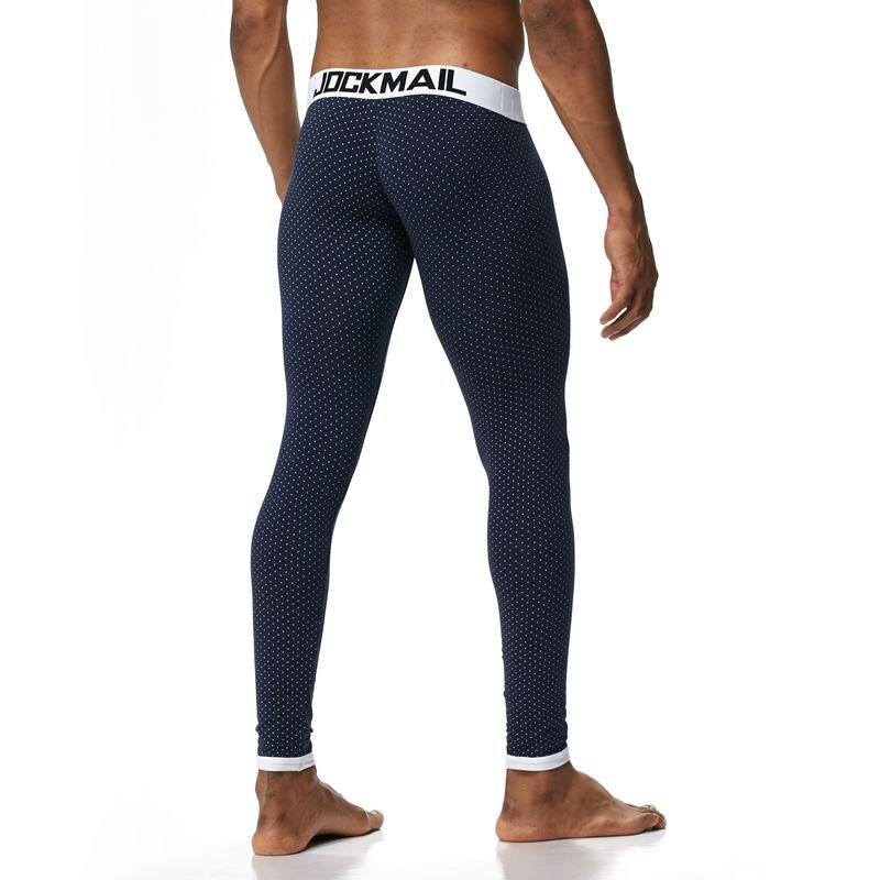 JOCKMAIL 2018 Sexy Long Johns Pants Men Thermal Underwear Cotton Printed Mens Thermal Underwear Sleeping Bottoms Leggings Pant