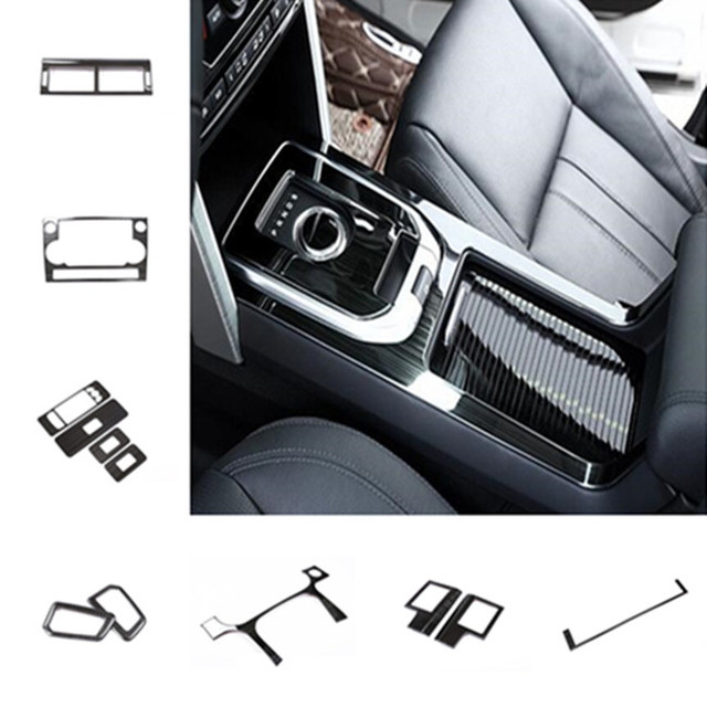 Black Stainless steel Center Console Frame Decoration Cover Trim For Land Rover Discovery Sport 2015-18 Car interior accessories