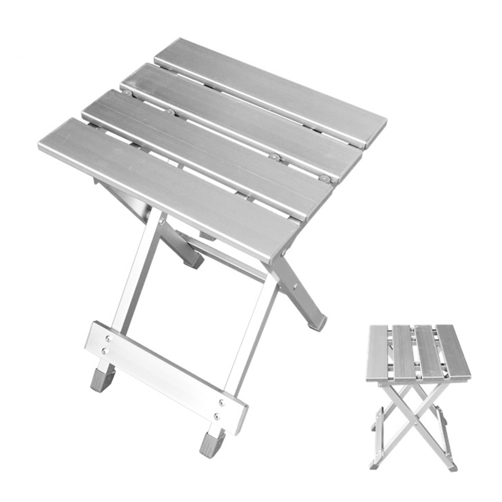 Space Saving Camping Aluminum Alloy Folding Stool Home High Intensity Non Slip Convenient Outdoor Hiking Fishing Portable Chair