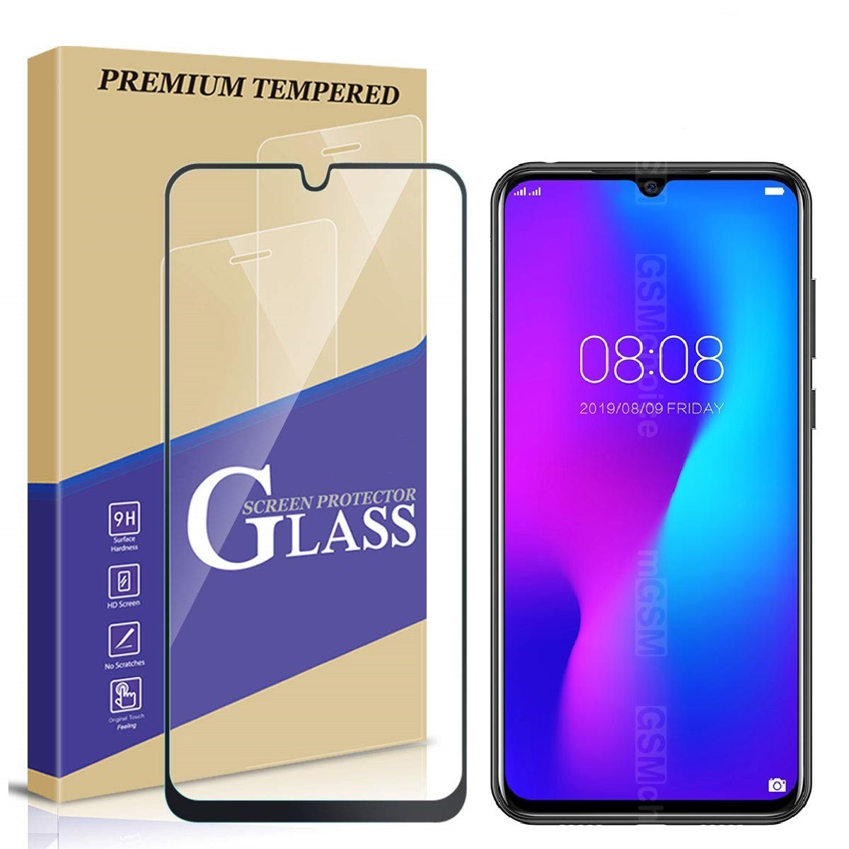 For Doogee N20 Tempered Glass Case Screen Protector Cover Smartphone Glass Film for Doogee Y9 Plus