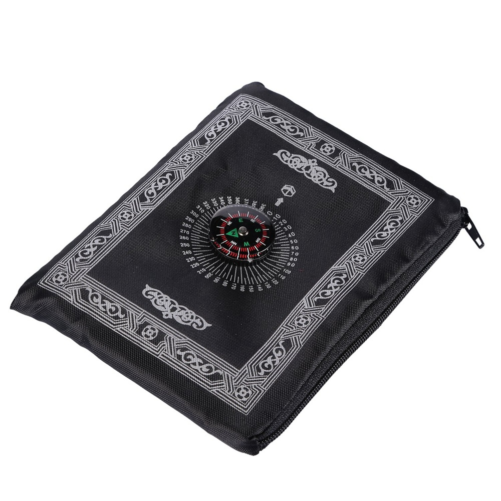 Image 4 - 100*60cm Pocket Prayer Mat Nylon Muslim Travel Praying Rug 