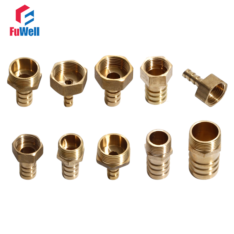 Brass Pipe Fitting 20mm Male Thread Hose Barb Pipe Joint Fitting 1/2'' Water Oil Gas Brass Pipe Fitting Plug