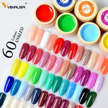 VENALISA 60 Solide Farben Farbe Gel Nail art Designs 2021 Heißer Verkauf Tränken Weg Vom LED Tinte Farbe Lack UV Gel nagellack Lack