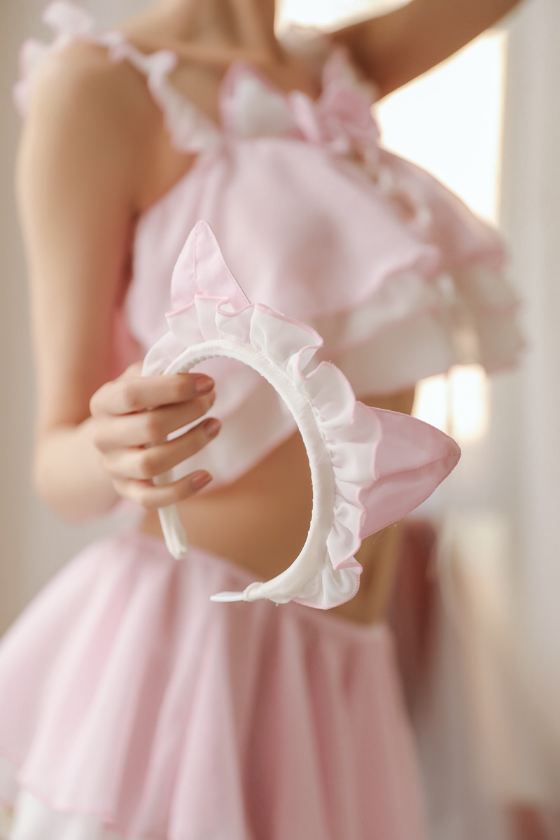 Image 3 - Little Cute Cat Girl Sexy Maid Uniform Temptation Hot Transparent Kawaii Lingerie Ruffle Cosplay Sex Toys Role playingLingerie Sets   -