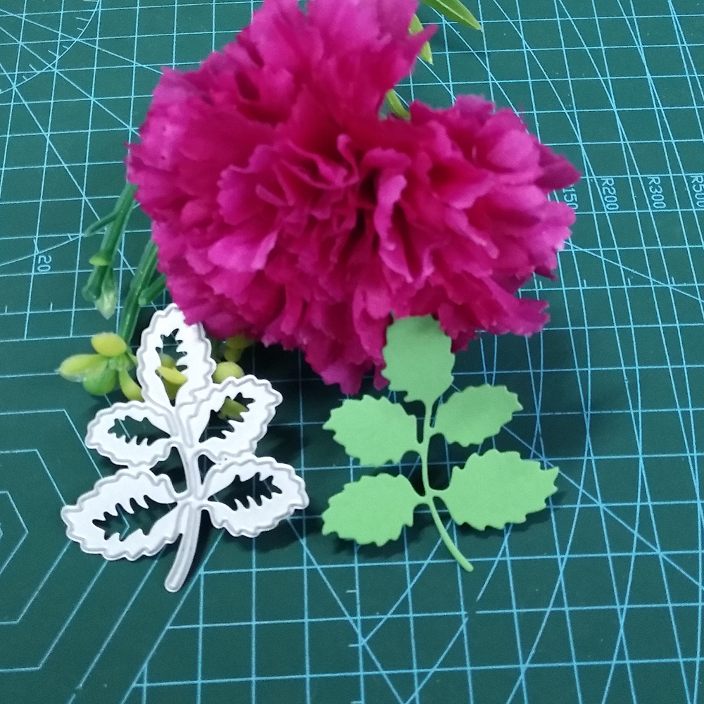 Green leaf accessories new cutting die scrapbook mold metal embossing business card printing die DIY