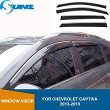 Deflektory boczna szyba dla Chevrolet Holden CAPTIVA 2013 2014 2015 2016 2017 2018 osłona przeciwdeszczowa osłona przeciwdeszczowa osłona przeciwsłoneczna