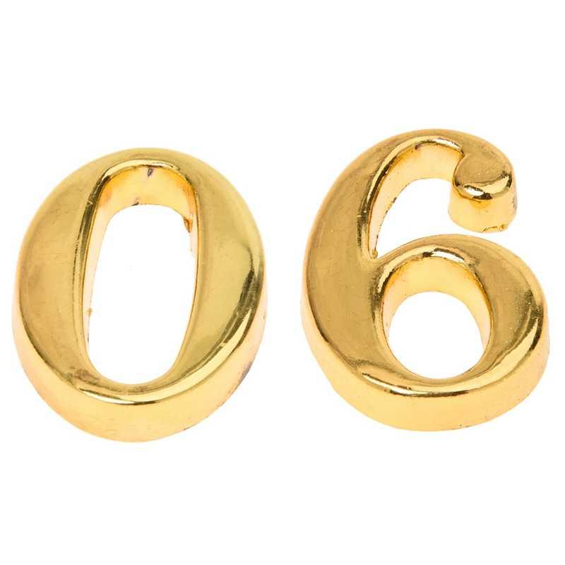2 Pcs Home GOLD House บ้านที่อยู่ประตูป้ายป้ายหมายเลขพร้อมสกรูป้าย House,0 & 6
