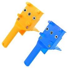 Sistema handheld do gabarito do furo do guia da broca do abs do gabarito de doweling de madeira rápida apto 6/8/10mm perfurador do furo do bocado de broca para junções do passador da carpintaria