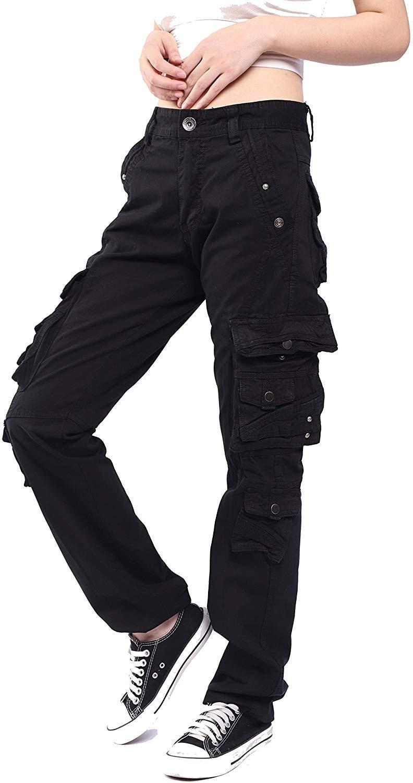 Women's Multi Pockets Casual Cargo Pants|Pants & Capris| - AliExpress