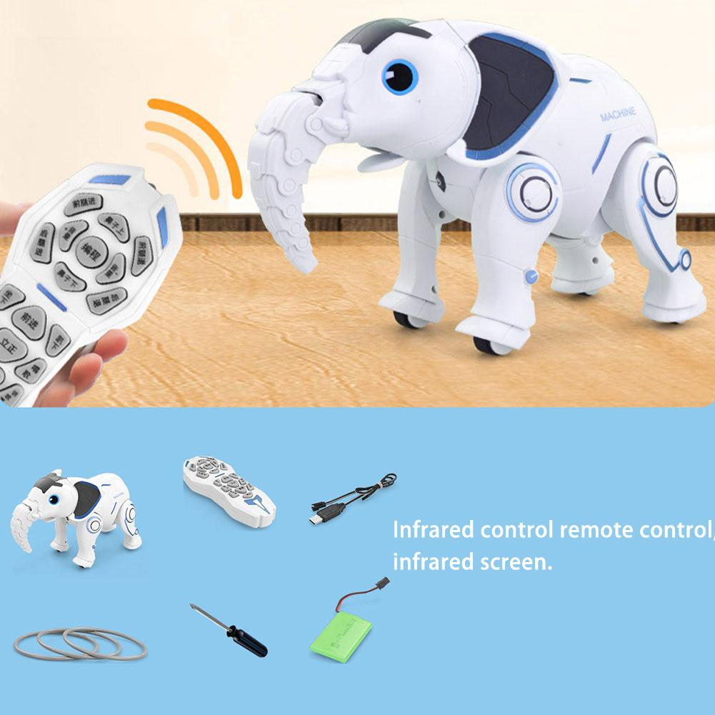 Cute Wireless Elephant Robot Interactive Children Toy Singing Dancing Remote Control Elephant Shape Robot Toy Early EducationToy