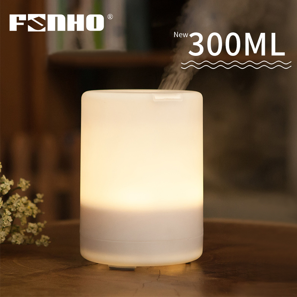 FUNHO 300ml Air Humidifier Essential Oil Diffuser Aromatherapy Electric  Ultrasonic  Mist Maker 7 LED colour Light  for Home
