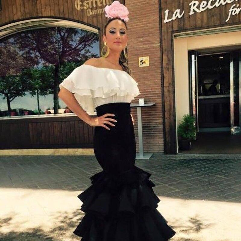 High Waist Long Skirt Tiered Fashion Satin Black Faldas Maxi Long Skirt Tiered Draped Costume Women Skirts Party Custom