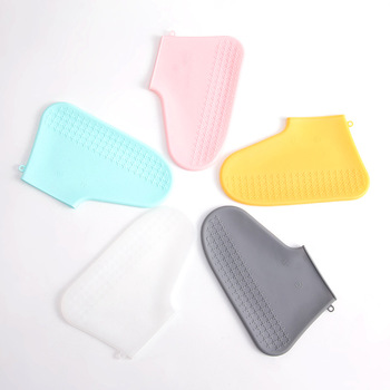 Reusable Waterproof Shoe Cover Silicone Rain Boots Portable Unisex Shoes Protectors Non-slip Rain Boots For Outdoor Rainy Days