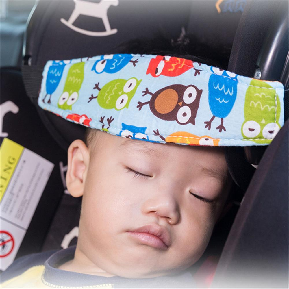 Car Safety Seat Head Support Fixing Band Adjustable Car Headrest Pad Pillow Infants Baby Sleep Positioner Head Protector Holder