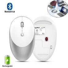 Ratón inalámbrico Bluetooth silencioso diseño delgado ergonómico ratón óptico para ordenador portátil PC 1600dpi ratón Bluetooth recargable