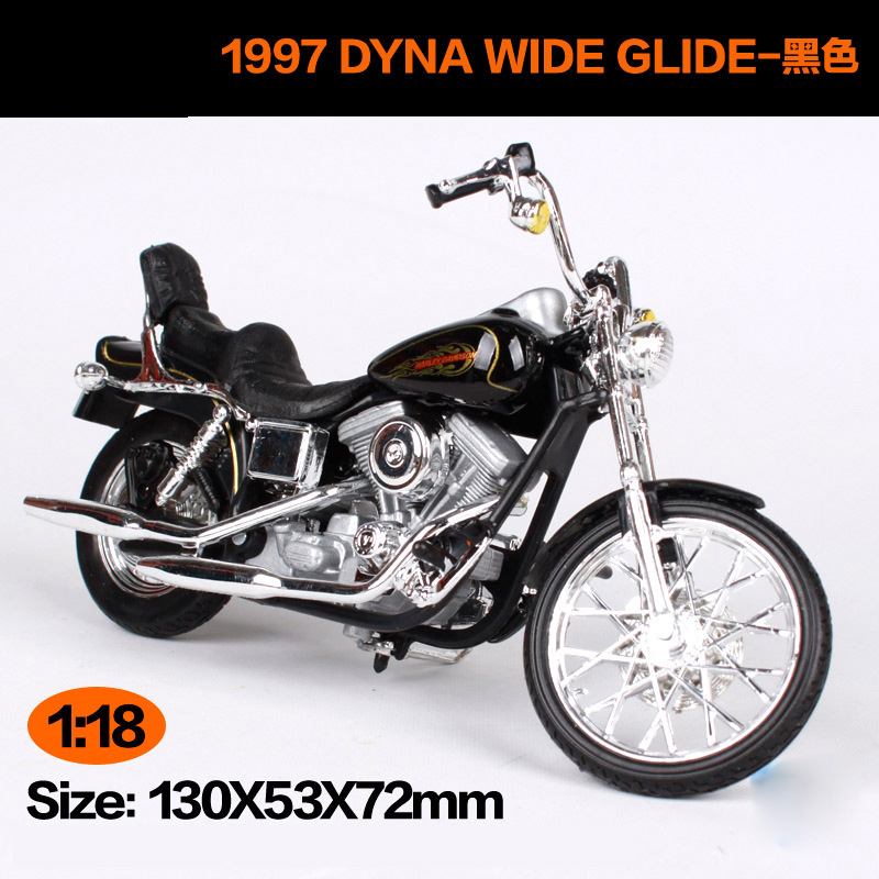 Maisto 1:18 Harley Davidson 1997 FXDWG DYNA WIDE GLIDE Motorcycle Metal Model Toys For Children Birthday Gift Toys Collection