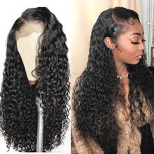 Парики с глубокой волной 13x4, вьющиеся волнистые передние парики из человеческих волос на сетке, парики для черных женщин, без клея, бразильс...