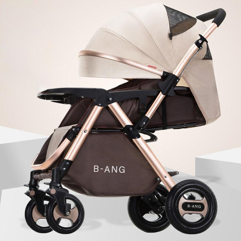 High View Baby Trolley Can Sit On A Reclining Light Folding Four-wheeled Carrige Two-way Baby Car