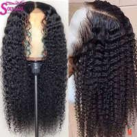Pelucas de cabello humano rizado sin pegamento 13x4 13x6 360, pelucas de cabello humano Remy prearrancadas con pelo de bebé de encaje medio y transparente 150