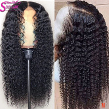 13x4 13x6 360 Glueless Curly Lace Front Human Hair Wigs Remy Peruvian Wigs PrePlucked With Baby Hair Medium&Transparent Lace 150