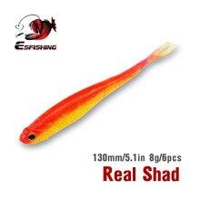 KESFISHING Fishing Bait Spring Lures Real Shad 130mm 6pcs Soft Lures Leurre Souple Wobblers Crankbait Carp Bass Squid Jigs PVA